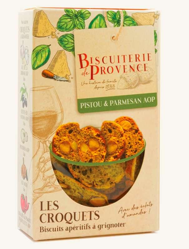 Croquets Pistou et Parmesan AOP, Biscuiterie de Provence (90 g)