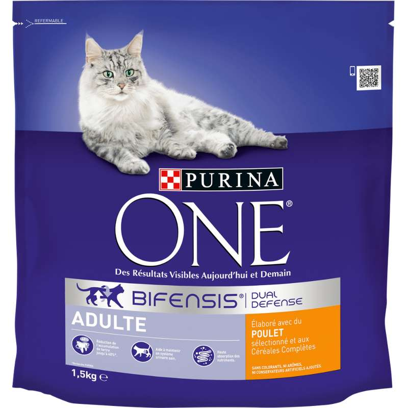 Croquettes pour chat adulte au poulet, Purina One (1.5 kg)