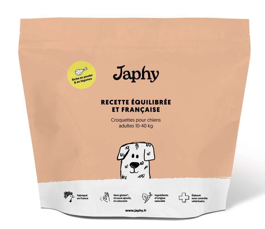 Croquettes naturelles pour chiens adultes poulet et petits légumes, Japhy (1 kg)