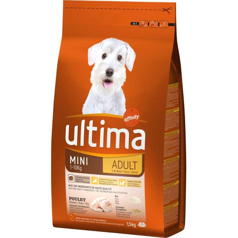Croquettes pour mini chiens Adulte,  Ultima (1.5 kg)