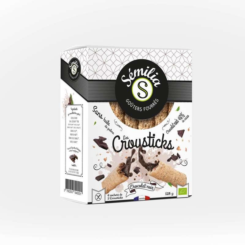 Crousticks chocolat noir sans gluten BIO, Sémilia (125 g)