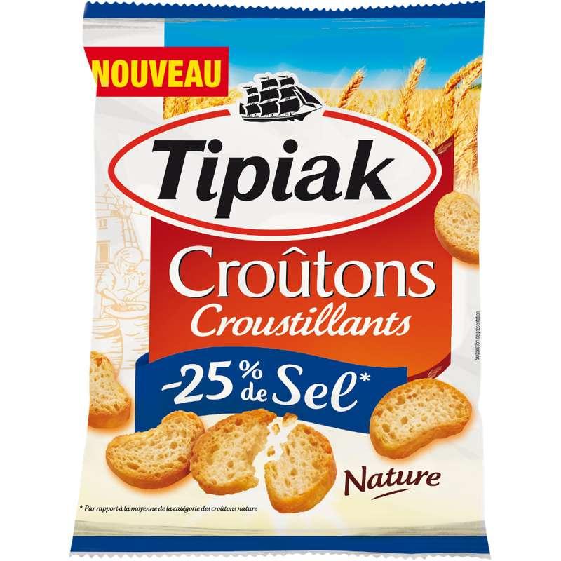 Croûtons nature -25% sel, Tipiak (80 g)