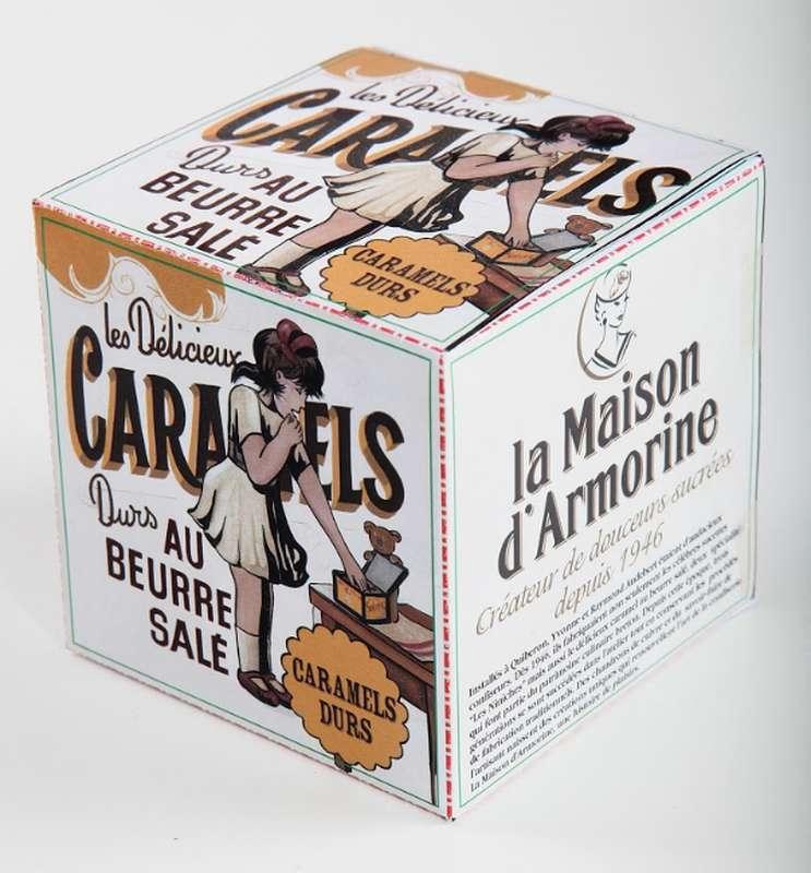 """Cube """"Servez-Vous"""" caramels durs, La Maison d'Armorine (150 g)"""