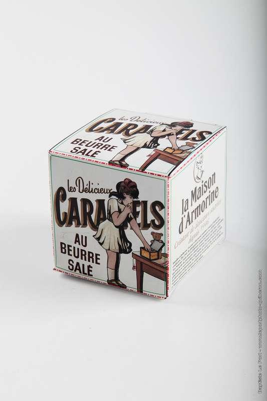 """Cube """"Servez-Vous"""" caramels tendres, La Maison d'Armorine (150 g)"""