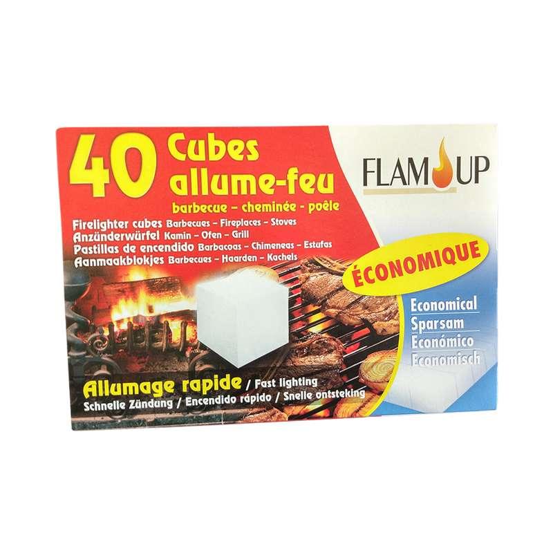 Cubes allume tous feux économique, Flam Up (x 40)