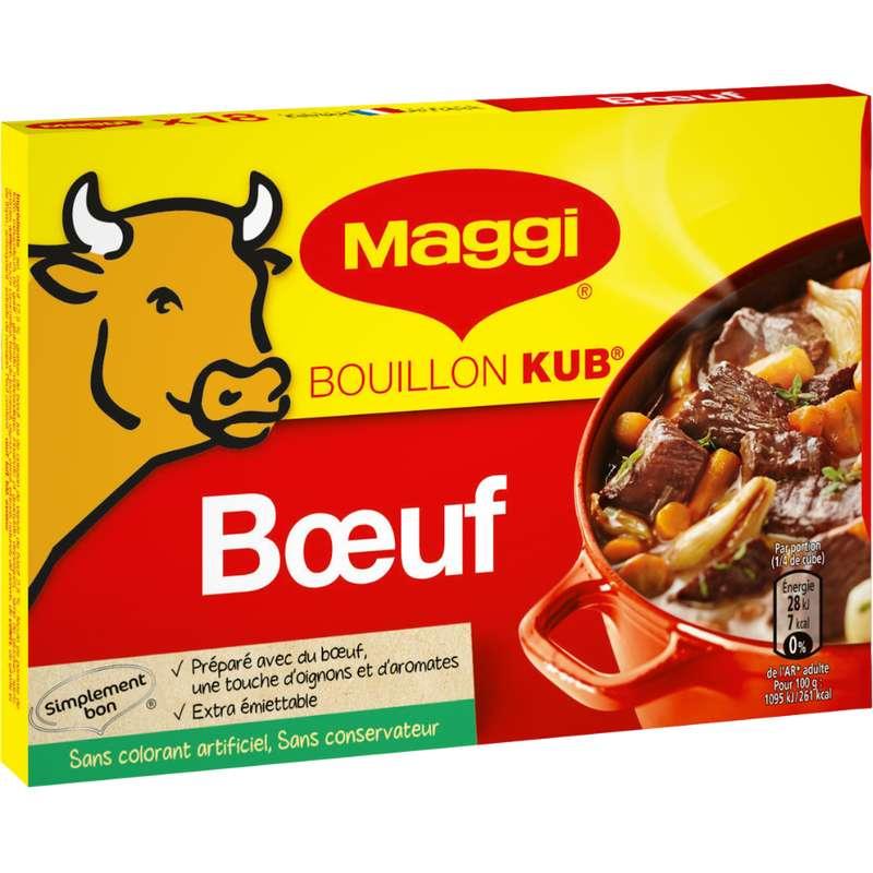Bouillon au boeuf, Maggi (x 18, 180 g)