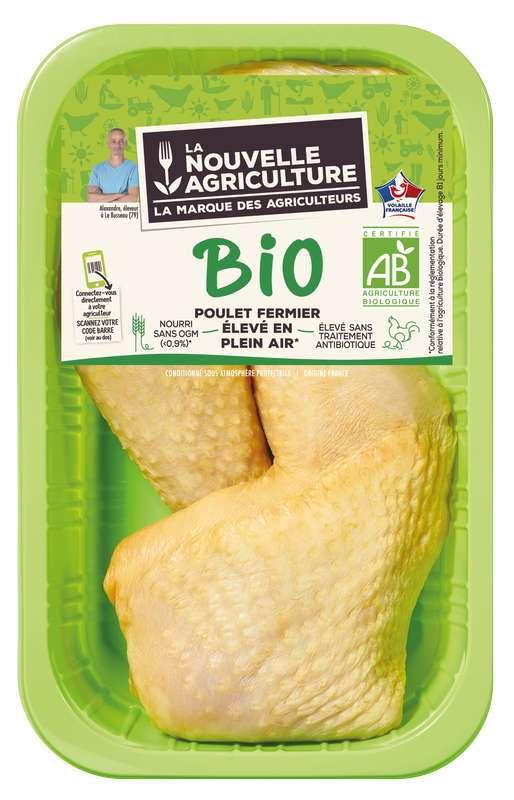 Cuisses de poulet fermier BIO, La Nouvelle Agriculture (x 2, 550 g)