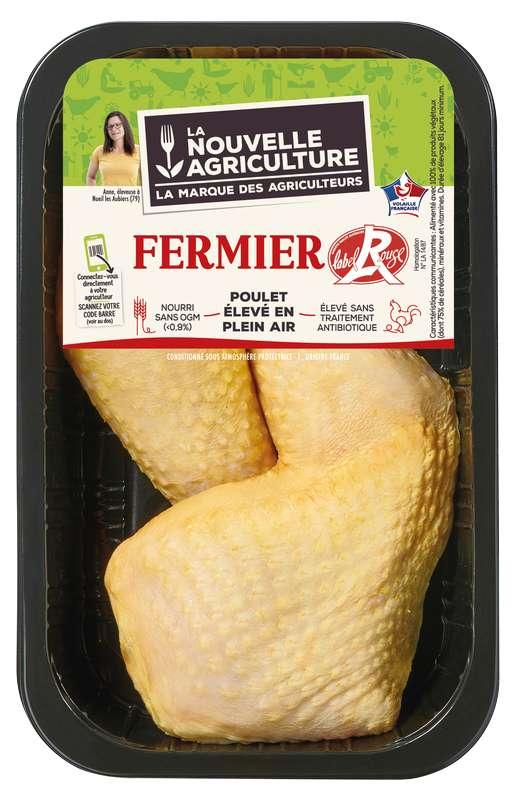 Cuisses de poulet fermier Label rouge, La Nouvelle Agriculture (x 2, 550 g)