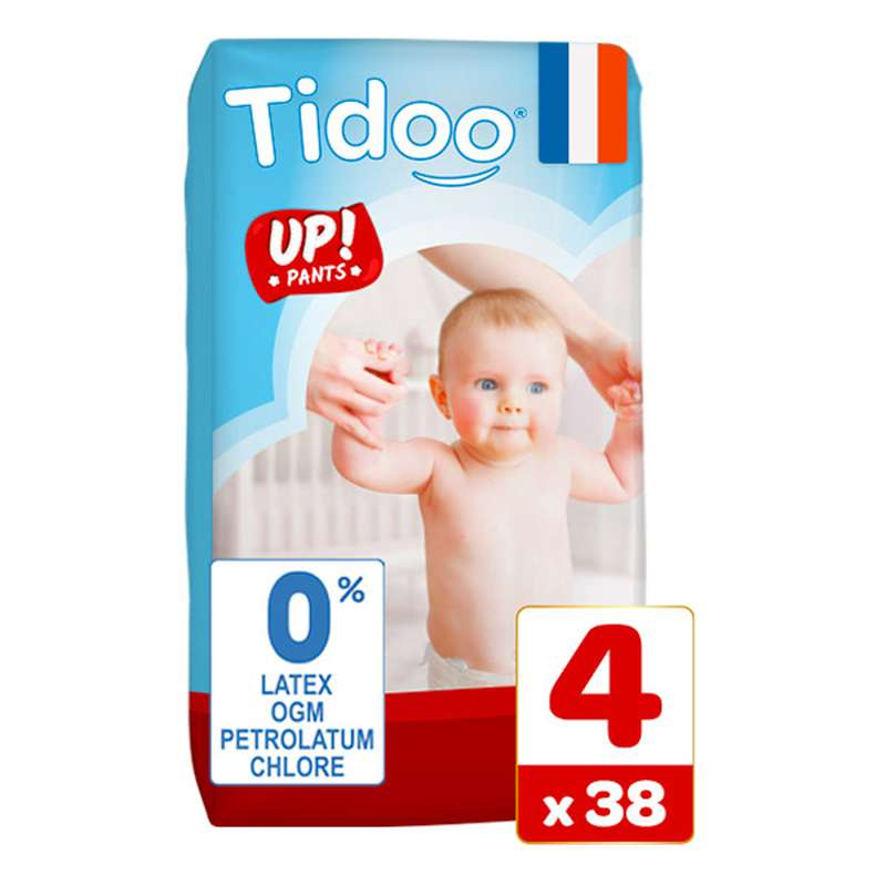 Culottes d'apprentissage écologiques T4 - M / 8-15 kg, Tidoo Nature Up! (38 culottes)