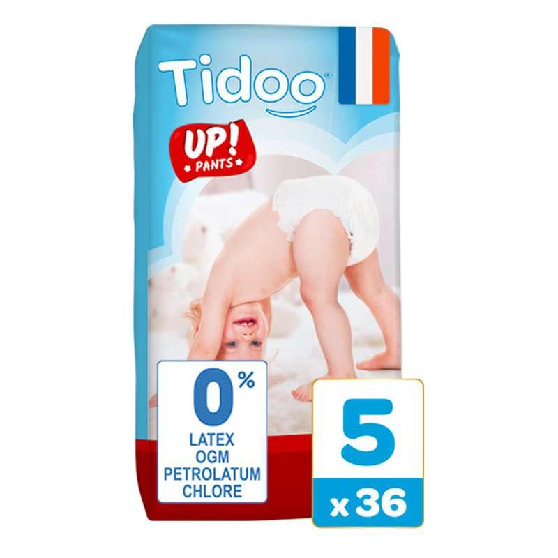 Culottes d'apprentissage écologiques T5 - L / 12-18 kg, Tidoo Nature Up! (36 culottes)