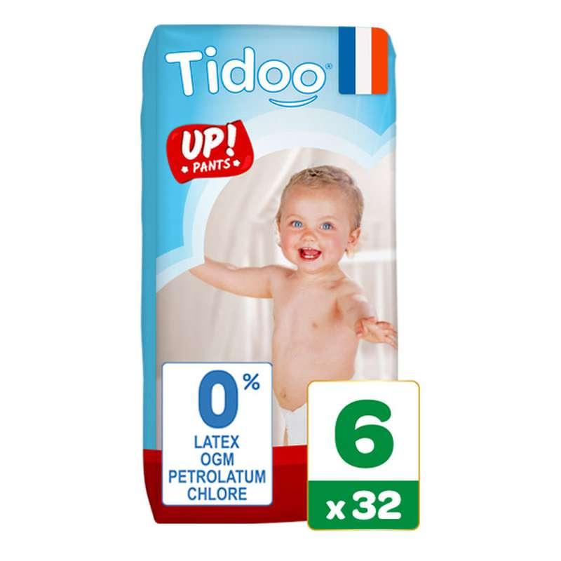 Culottes d'apprentissage écologiques T6 - XL / 16-30 kg, Tidoo Nature Up! (32 culottes)