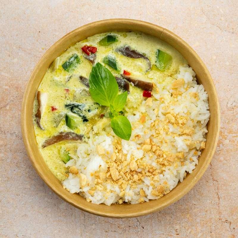 Curry vert de légumes, riz thaï (300 g)