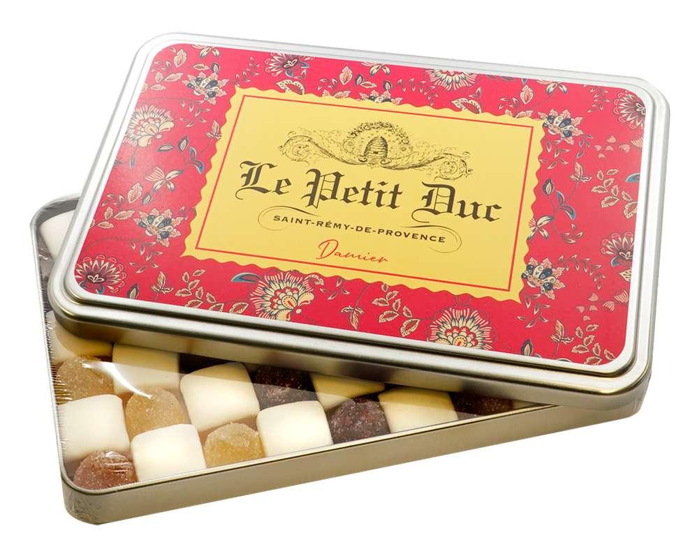 Damier de calissons et pâtes de fruits - boîte métal, Le Petit Duc (275 g)
