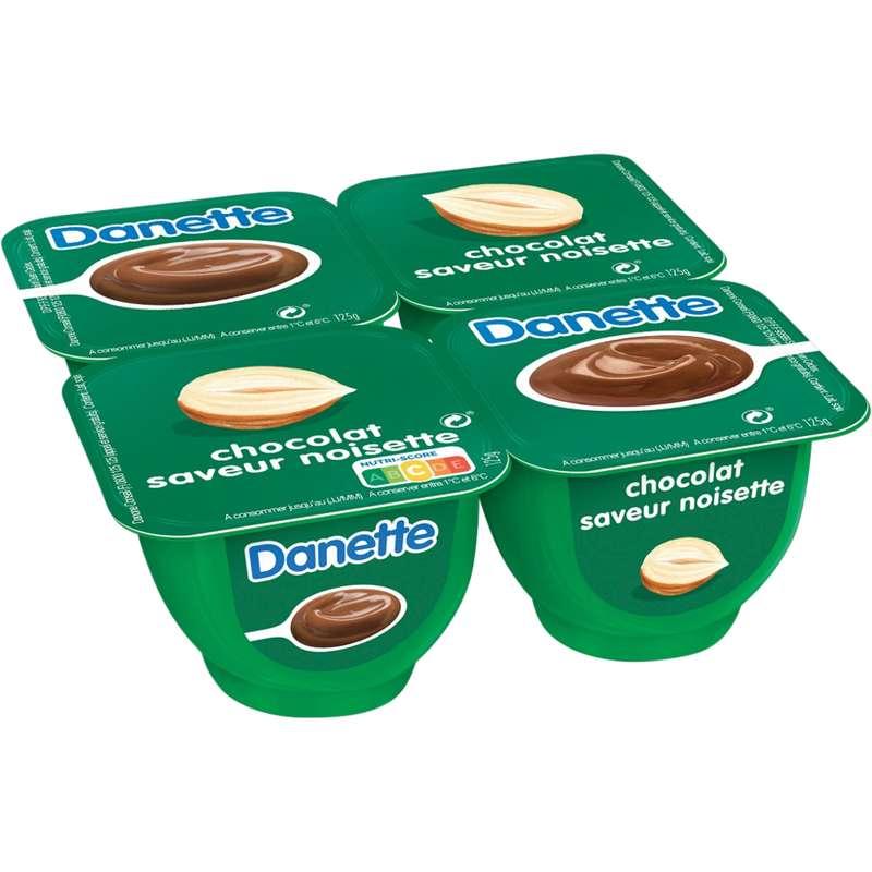 Danette chocolat noisette (4 x 125 g)