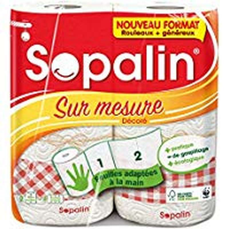 Essuie Tout décoré sur mesure 2=4, Sopalin (x 2)