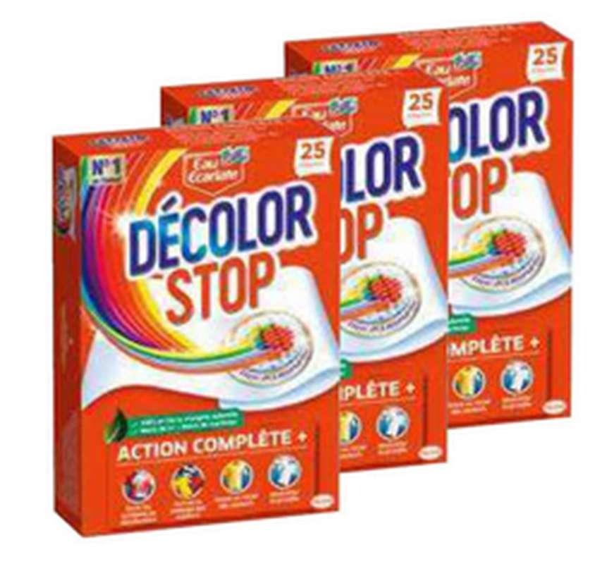 Décolor Stop action complète LOT DE 3 (3 x 25 lingettes)