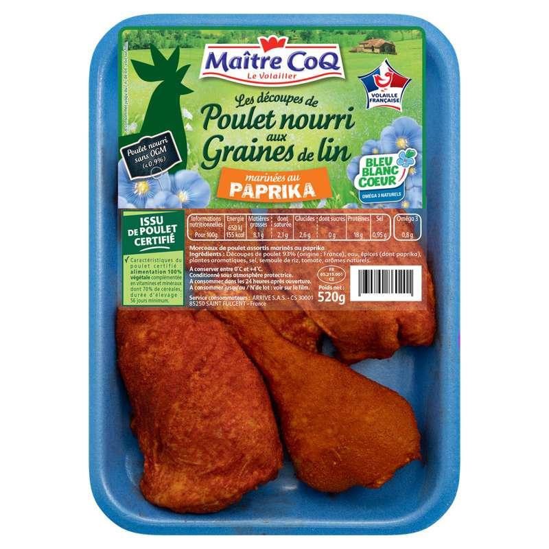 Découpe de poulet au paprika, Maître Coq (520 g)