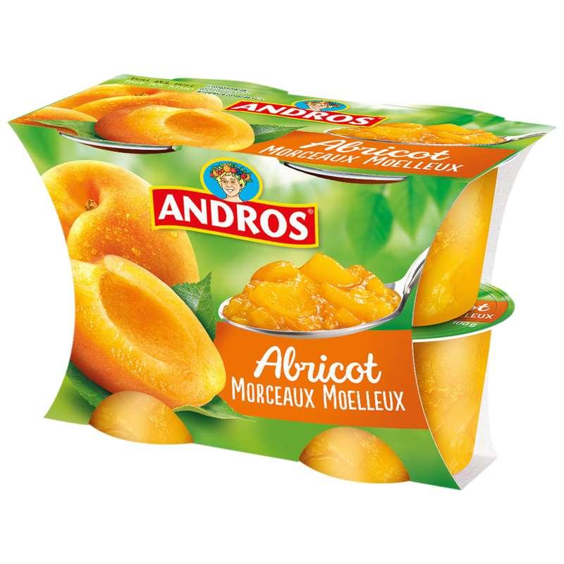Compote d'abricot avec morceaux, Andros (4 x 100 g)