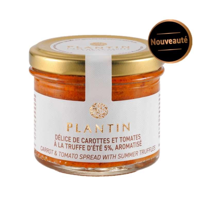 Délice de carottes et de tomates à la truffe d'été 5% aromatisée, Plantin (100 g)
