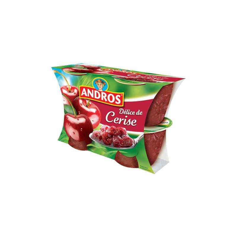Compote de cerise avec morceaux, Andros (4 x 100 g)