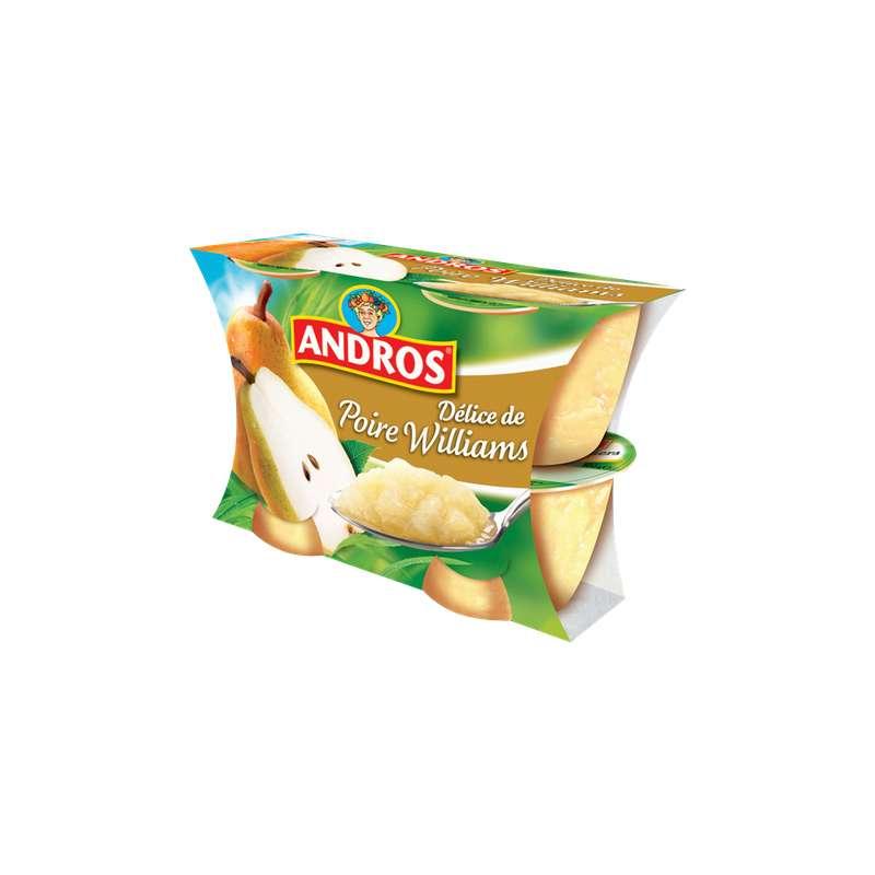 Délice fruitier de poire Williams, Andros (4 x 100 g)