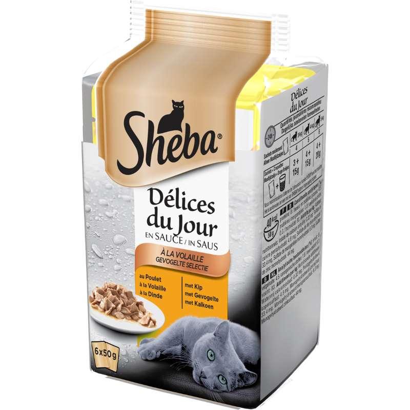Délices du jour pour chat à la volaille, Sheba (6 x 50 g)
