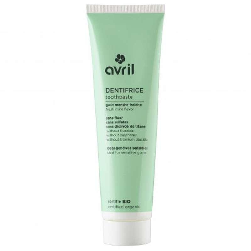 Dentifrice à la menthe sans fluor certifié BIO, Avril (100 ml)
