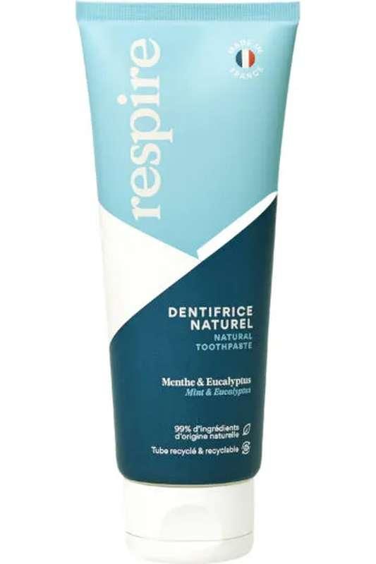 Dentifrice naturel Menthe & Eucalyptus, Respire (75ml)