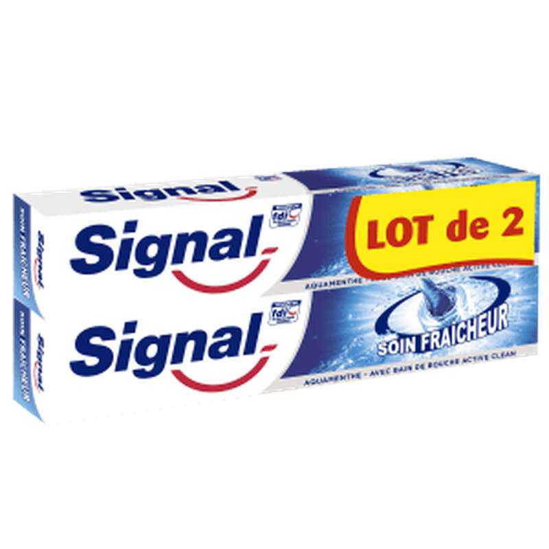 Dentifrice soin fraîcheur Aquamenthe, Signal LOT DE 2 (2 x 75 ml)