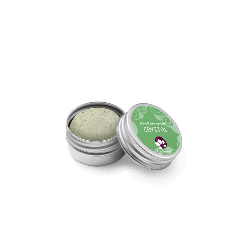 Dentifrice solide aux 2 menthes Crystal boîte métal, Pachamamaï (20 g)