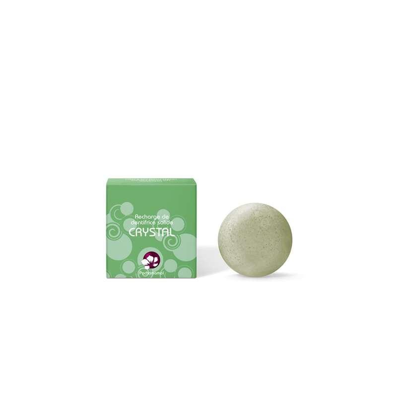 Recharge de dentifrice solide aux 2 menthes Crystal, Pachamamaï (20 g)