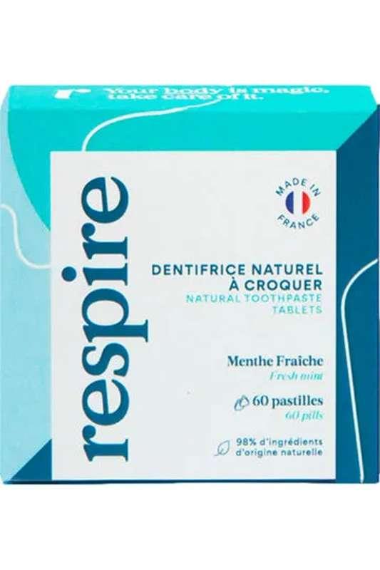 Dentifrice solide, Respire (60 pastilles)