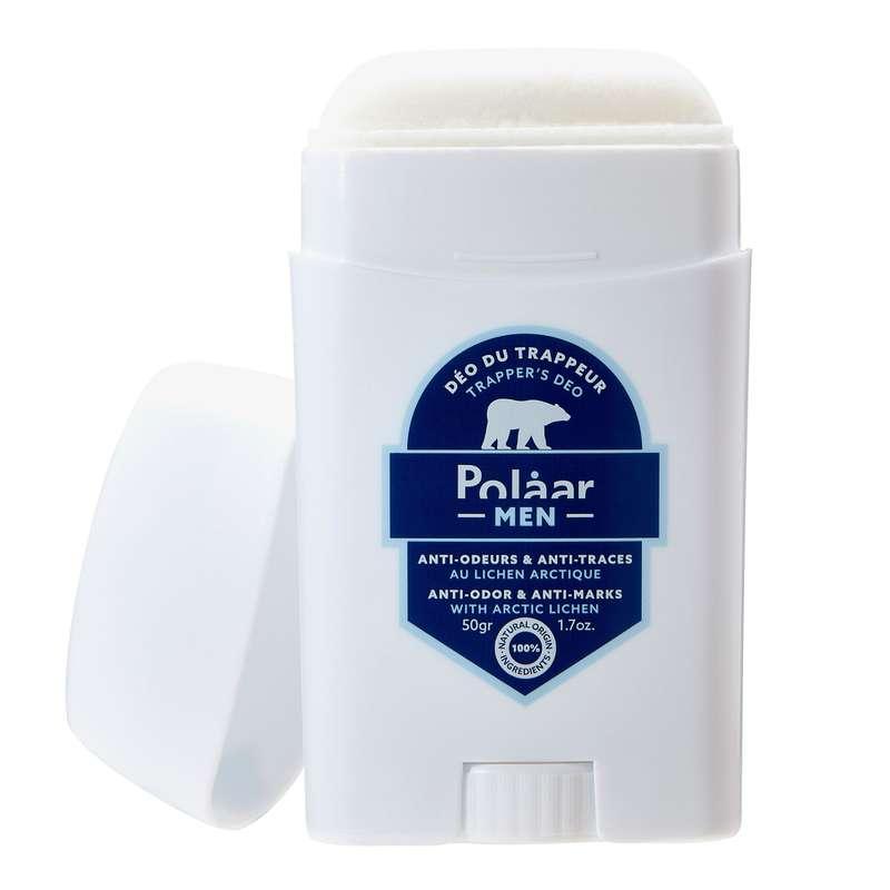 Déo du Trappeur anti-odeurs et anti-traces au lichen arctique, Polaar Men (50 g)