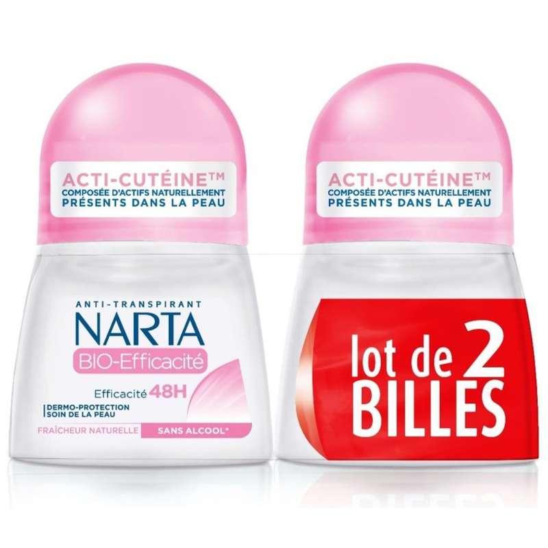 Déodorant bille BIO efficacité, Narta LOT DE 2 (2 x 50 ml)
