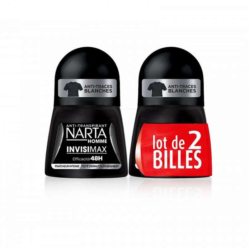Déodorant bille Invisimax pour homme, Narta LOT DE 2 (2 x 50 ml)