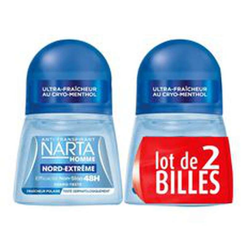 Déodorant bille Nord-extrême pour homme, Narta LOT DE 2 (2 x 50 ml)