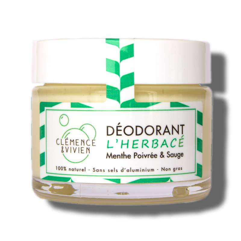 Déodorant crème L'Herbacé BIO, Clémence & Vivien (50 gr)