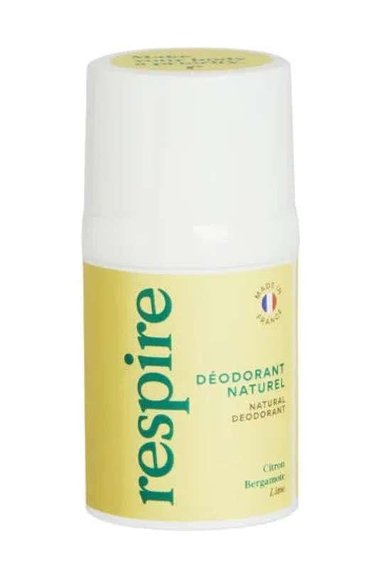 Déodorant naturel Citron Bergamote BIO, Respire (50 ml)