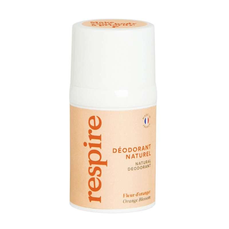 Déodorant naturel Fleur d'Oranger BIO, Respire (50 ml)