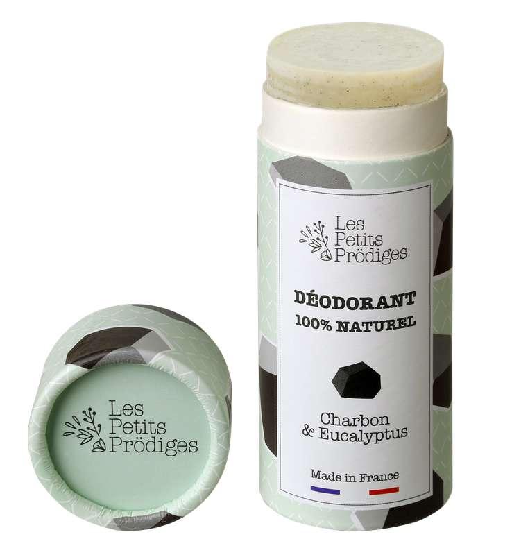 Déodorant solide 100% naturel Charbon & Eucalyptus, Les Petits Prödiges (65 g)
