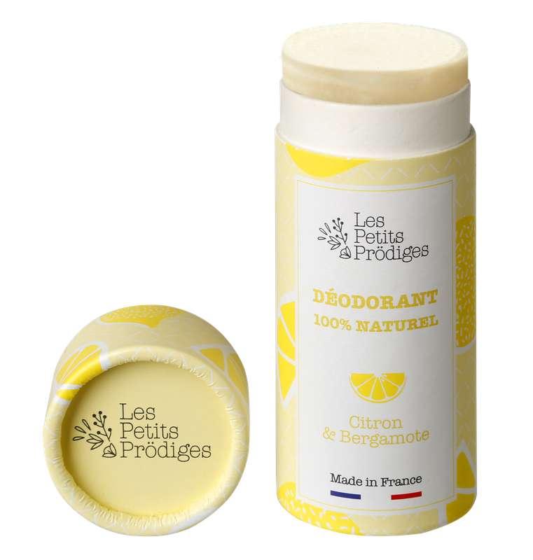 Déodorant solide 100% naturel Citron & Bergamote, Les Petits Prödiges (50 g)