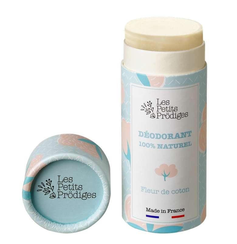 Déodorant solide 100% naturel Fleur de Coton, Les Petits Prödiges (50 g)