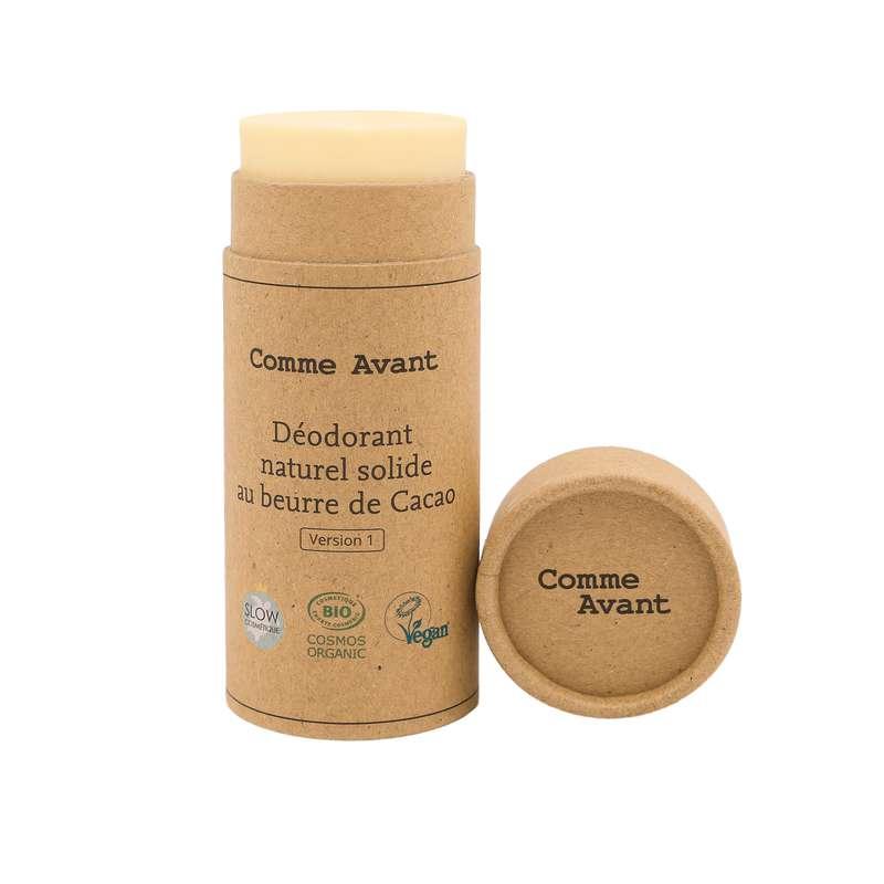 Déodorant solide au beurre de cacao vegan BIO, Comme Avant (50 g)