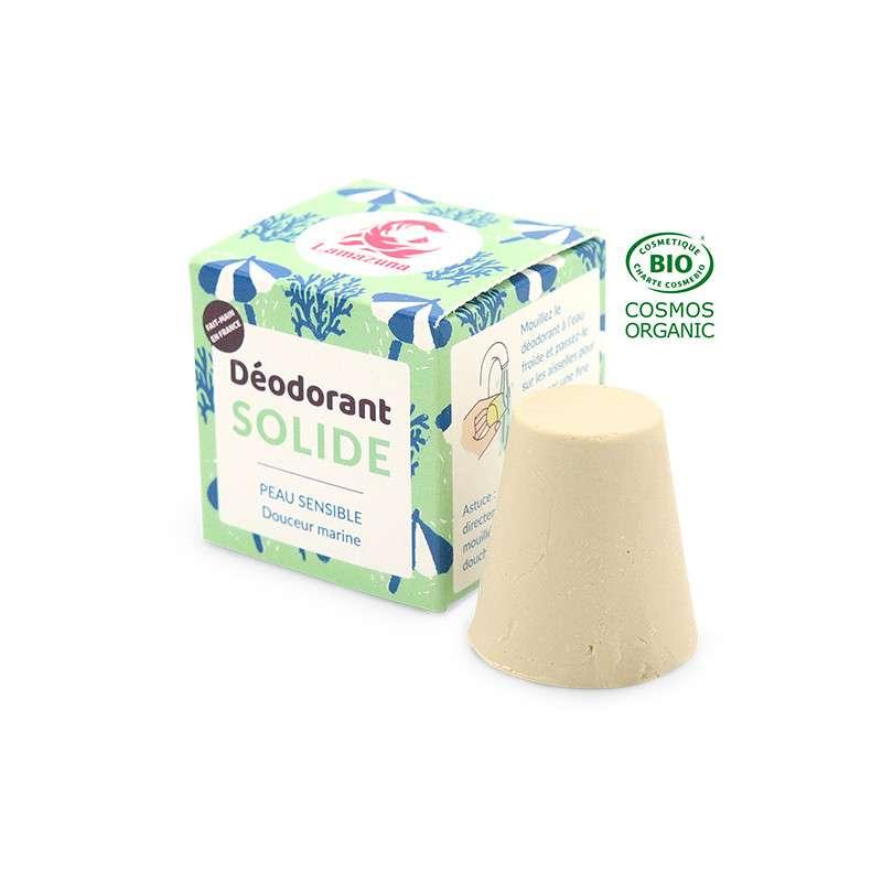 Déodorant solide douceur marine peau sensible BIO, Lamazuna (30 ml)