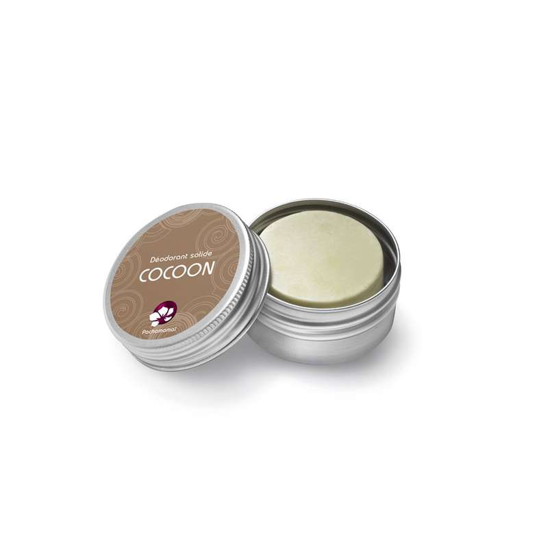 Déodorant solide sans huiles essentielles Cocoon boîte métal, Pachamamaï (24 g)