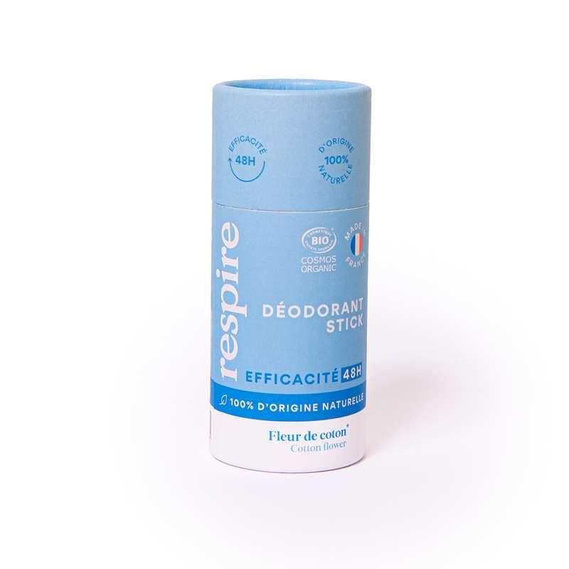 Déodorant stick Fleur de coton BIO, Respire (50 gr)