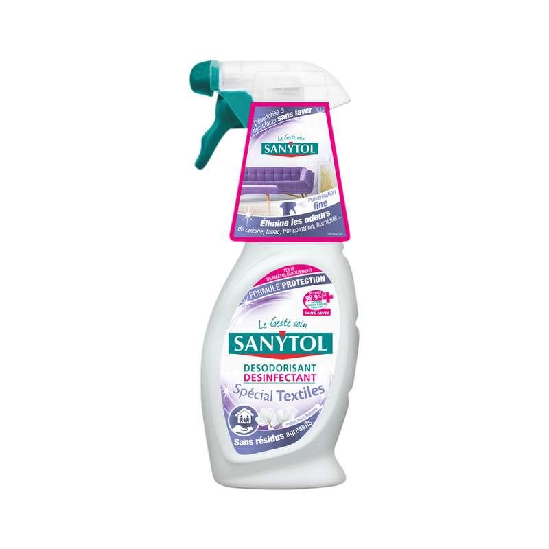 Désodorisant désinfectant pour textiles, Sanytol (500 ml)