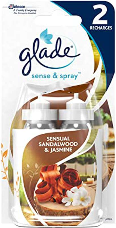 Désodorisant recharge/santal & jasmin LOT DE 2 recharges, Glade (2 x 18 ml)