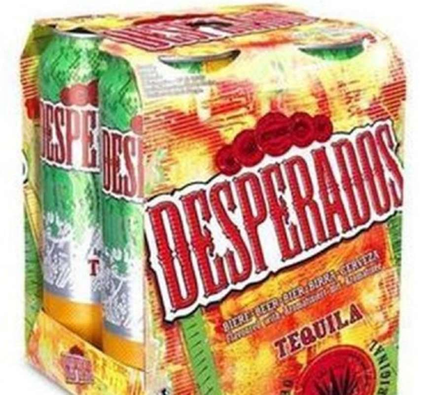 Pack de Desperados Original Tequila 5°9 en canette (4 x 50 cl)