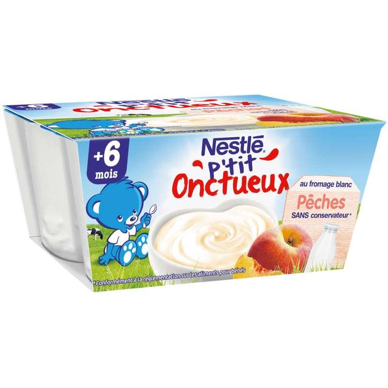P'tit onctueux à la pêche - dès 6 mois, Nestlé (4 x 100 g)